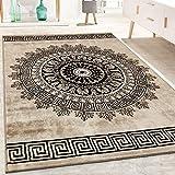 Paco Home Tapis De Créateur Poils Ras Salon Chiné Motif De Formes Géométriques Brun, Dimension:160x230 cm...