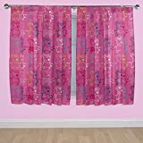 Peppa Pig Rocks Curtains - 168 x 137cm - Pink.