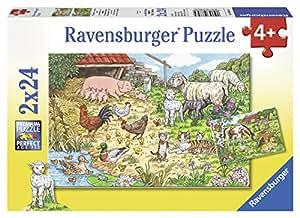Ravensburger - 08858 4 - Puzzle - Les Animaux De La Campagne - 2 x 24 Pièces