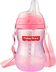Fisher-Price Flexi Straw Sippy Cups for Boy's and Girl's (300ml, Pink)