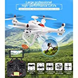 FOXFF X183 Drone with 1080P Camera Live Video and GPS Return Home Stunt Rolling,GPS Voyage Function,GPS Automatically Follow,Anti-Jamming Motors Drone with Headless Mode for Kids(White)-White