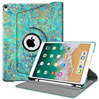 Fintie iPad Pro 10.5 Case with Built-in Apple Pencil Holder - 360 Degree Rotating Stand Protective Cover with Auto Sleep / Wake Feature for Apple iPad Pro 10.5 Inch 2017 Release, Shade of Blue