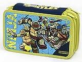 Giochi Preziosi - Tartarughe Ninja Astuccio Triplo con Colori, Pennarelli ed Accessori Scuola