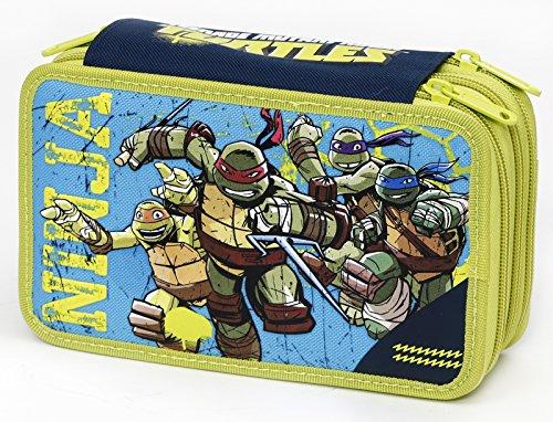 Tortugas Ninja – Estuche Triple con Colores, marcadores y Accesorios (Montichelvo 87657)