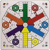 Juguetes Cayro - Tablero Parchís de madera, 4 - 6 jugadore, 40 x 40 cm
