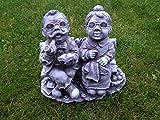 Für Garten Deko Opa und Oma Gartenfiguren Steinfiguren Steinguss Frostfest
