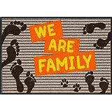 SLD0488-050x075 Fußmatte Wohnmatte WE ARE FAMILY ca. 50 x 75 cm