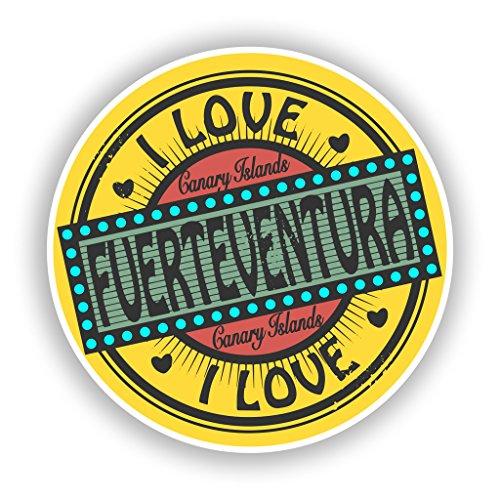 Preisvergleich Produktbild 2x Fuerteventura Vinyl Aufkleber Reise Gepäck # 10565 - 10cm/100mm Wide