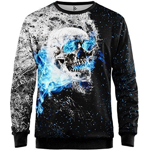 Blowhammer - Sweatshirt Herren - Flaming Skull SWT - M Flaming Skull Sweatshirt