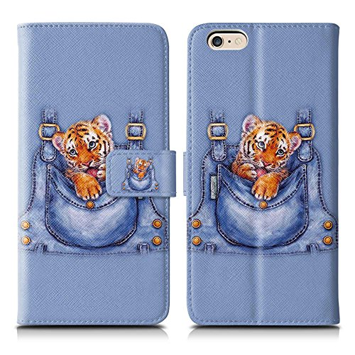 Apple iPhone 5 / 5s Handyhülle inklusive Displayfolie Keep Calm Carry ON Tigerbaby