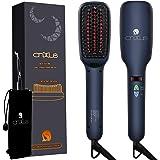 Jonisk hårplattång borste, CNXUS MCH keramisk uppvärmning plattborste, LED-display justerbar temperatur hårplattning borste,