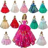 Miunana 7 Robes de Soirée Aléatoire Elégantes Mode Princesse Pour Poupée Barbie