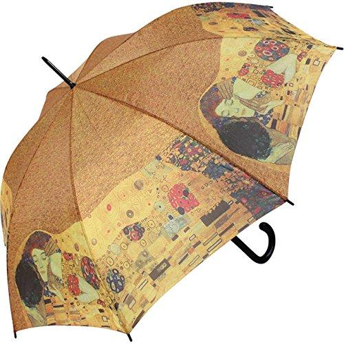 Regenschirm Motiv Gustav Klimt Der Kuss Stockschirm Automatik (Regenschirm Gustav Klimt)
