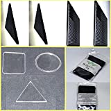 Sticky Gel Pad Set Multi function Magic Cell Phone,Tablet Holder [ 7 Pack ] Removable Super Strong Double Sided Adhesive Stopper Pads | Various Sizes | Clear and Black | Easy to use Anti-Slip Mat