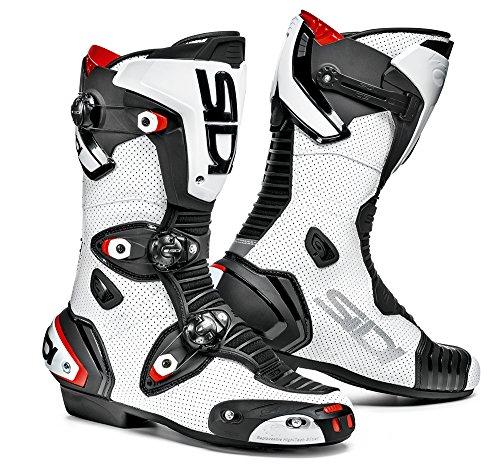 SIDI - Stivali da Moto, Bianco/Nero, 46