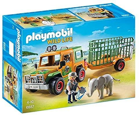 Playmobil 6937 Véhicule avec éléphanteau et soigneurs