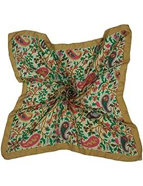 Nueva pura seda suave de la plaza de la bufanda de las mujeres del abrigo de la moda de Paisley Impreso Hijab...