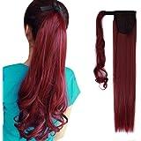 """23"""" Queue de Cheval Postiche Extension de Cheveux (Attachée par Bande Scratch) Lisse - Wrap Around Ponytail Clip in Hair Extensions (58cm-120g)"""