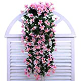 Cheerlife Kunstpflanze Künstliche Blumen Deko Hochzeiten Heimdekoartikel Wand Balkon Blume Wohnkultur Seidenblumen (Pink)