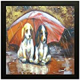 Best Dog Frame - PRINTELLIGENT Cute Dog, Wall Art,Office Decoration, Home Decoration Review