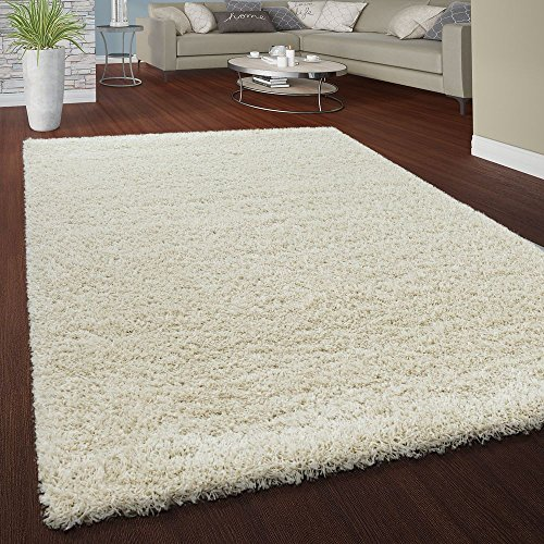 Pile shaggy tappeto soffice morbido pelo lungo moderno universale colori crema, dimensione:160x230 cm