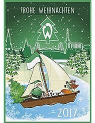 SV Werder Bremen Fußball Adventskalender Kalender 2017 *NEU*OVP*