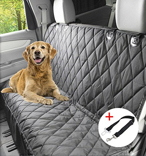 Winipet X-Large Dog Seat Cover- Dog Hammock- Travel Car Seat Cover- Rear Seat Protector- Heavy Duty & Waterproof with A Free Safety Seat Belt
