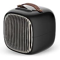 FOCHEA Radiateur Soufflant Céramique 800W Chauffage Soufflant & Ventilateur Instant Comfort, Chauffage d'Appoint avec Régulateur de Température et de Puissance, Sliencieux, Thermostat, Noir
