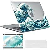 MUSHUI 4 en 1 Funda para MacBook Air 13 Pulgadas 2020 2019 2018 M1 A2337 A2179 A1932, Plástico Carcasa Rígida & Cubierta de T