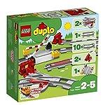 LEGO DUPLO Town Binari Ferroviari, Set di Costruzioni con Mattoncino Rosso d'Azione, 10882 LEGO