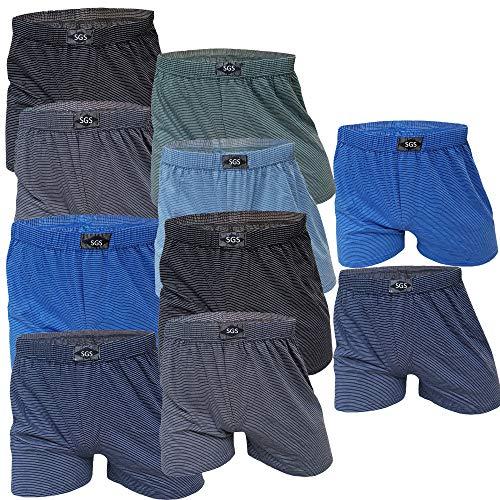 SGS 10 Boxershort Herren Unterhosen Boxershorts Men Baumwolle (13/6XL, 10.Stück ohne Eingriff)