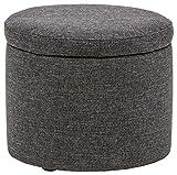 Marca Amazon -Rivet Madison - Otomana con tapa para almacenaje, 50,8 cm de ancho (gris caviar)