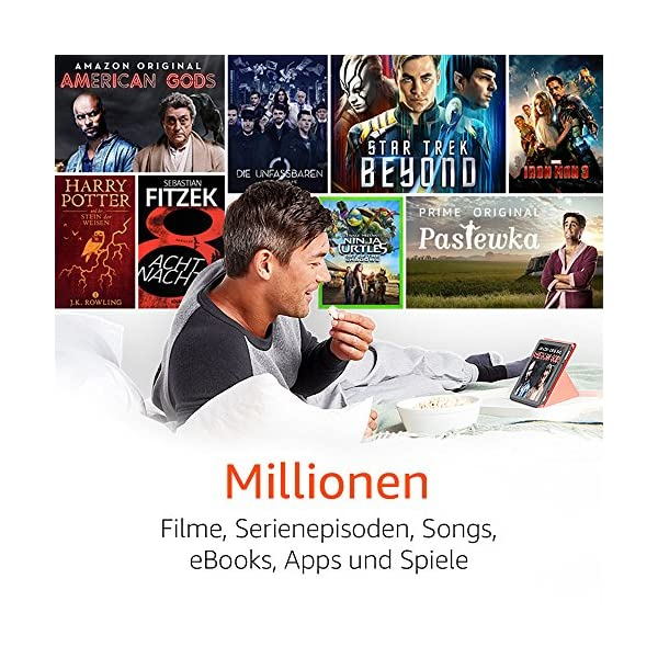 Fire HD 10-Tablet, 1080p Full HD-Display, 32 GB, Blau, mit Spezialangeboten (vorherige Generation – 7.)