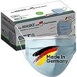 Medizinische Op Masken MADE IN GERMANY Typ IIR CE Zertifiziert DIN EN 14683 40 Stück Mundschutz Masken Einwegmaske Gesichtsma