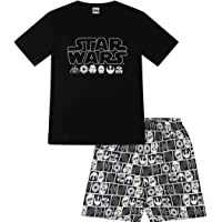 Disney Men's Official Star Wars Character Cotton Short Pyjamas