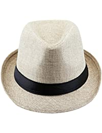 640787aceade9 Shanxing Fedora Hats for Men Trilby Hat Panama Style Summer Beach Sun Jazz  Cap