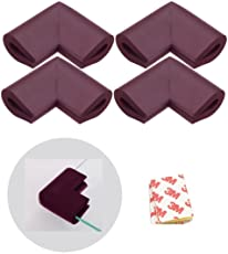 Store2508 U Shape Foam Corner Guards for Glass, Thin Table Top (Brown)-Pack of 4
