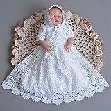 Cinda Baby Spitze Taufkleid mit Mütze Elfenbein 68-74 - 3