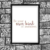 Awesome Motivational Inspirational Positive Thoughts Quote Poster Print Wall 86