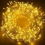 Guirlande Lumineuse 100M 500 LED Intérieur Extérieurs Quntis Guirlande Étanche Décoration Lumière 8 Modes d'éclairage Pour Noël Mariage Anniversaire Décoration Chambre Blanc Chaud Basse Tension