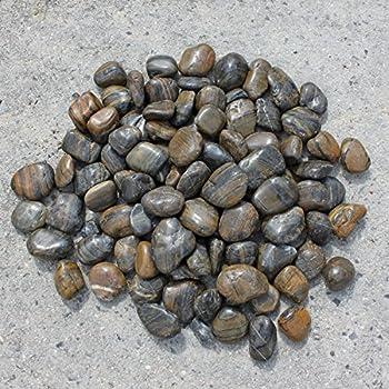 Premium kieselsteine blackstone kiesel schwarz poliert for Anthrazit kieselsteine