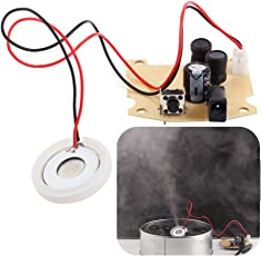 Icstation 20mm Ultrasonic Mist Maker Fogger Ceramic Discs with Power Driver Board for Desktop Mini Humidifier Replacement Parts