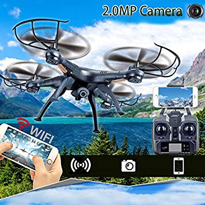 Hanbaili X5C Drone With 720P HD Camera Live Video,RC Quadcopter with 3D Flips High/Low Speed Headless Mode Drones for Kids from Cewaal