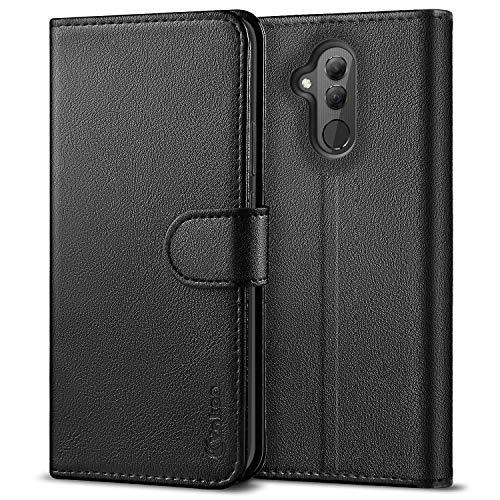 Vakoo PU-Leder Schutzhülle Kompatibel mit Huawei Mate 20 Lite Hülle, Brieftasche Handyhülle für Huawei Mate 20 Lite - Schwarz