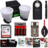 Gary Fong LSUSTART Lightsphere Universal Flash Diffusion Starter Kit With Deluxe Accessory Bundle