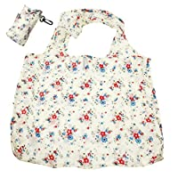 benerini Floral/Flower Design Fold Up Shopping Bag In Pouch With Clip Attachment - Design 2