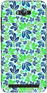 The Racoon Lean printed designer hard back mobile phone case cover for Asus Zenfone Max ZC550KL. (Green Leaf)