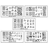 Bundle Monster XL Nail Art Stamping Set–Kawaii Emoji