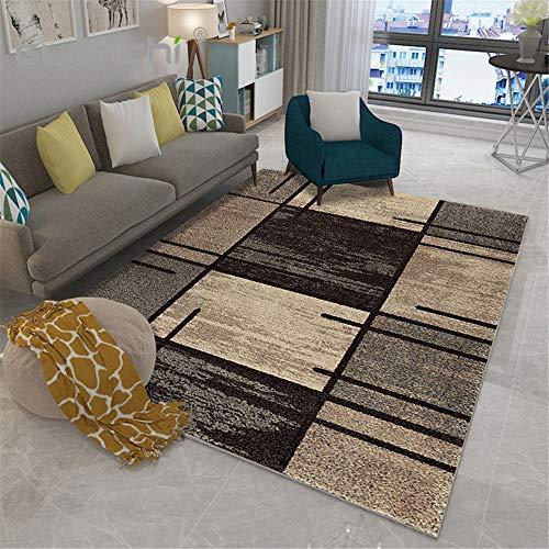 wlqdyys Designer Moderner Teppich,Warm halten,Für Moderne Wohnkultur, Kinderzimmerdekoration,Schwarzer kakifarbiger Tintenfleck - 60 cm * 90 cm