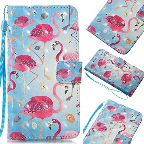 Coolfun Bling Glitter Einhorn Flamingo Bär Baum Brieftasche Ledertasche Mit Kreditkartenhalter Flip Stand Telefon Shell für iPhone X (4#)
